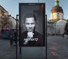 Kaszlący billboard eCode